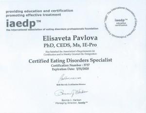CEDS. IAEDP_Elisaveta Pavlova