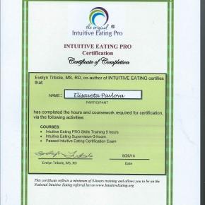 COUNSELOR_Intuitive Eating.Cert_Elisaveta V. Pavlova