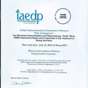 EMDR & ED Certificate