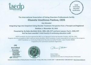 Elisaveta Veselinova Pavlova iaedp Institute CE
