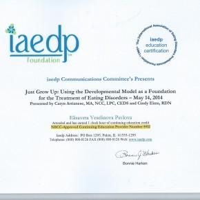 IAEDP Cert. Developmental Model for ED